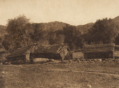 Modern rancheria at Santa Ysabel - Diegueño  (The North American Indian, v. XV. Norwood, MA, The Plimpton Press, 1926)