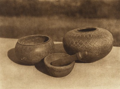 Streatite vessels from Santa Catalina Island  (The North American Indian, v. XV. Norwood, MA, The Plimpton Press, 1926)