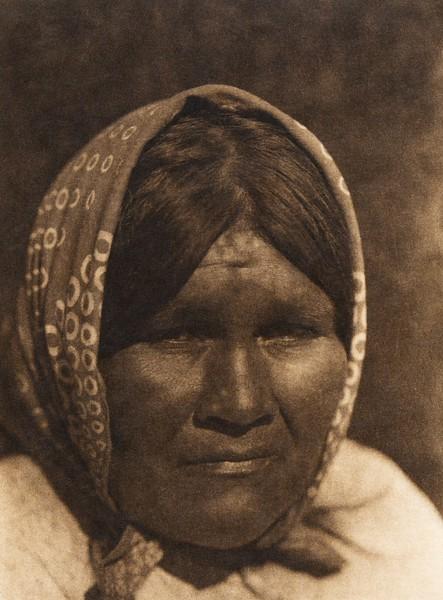 A desert Cahuilla female type (The North American Indian, v. XV. Norwood, MA, The Plimpton Press, 1926)