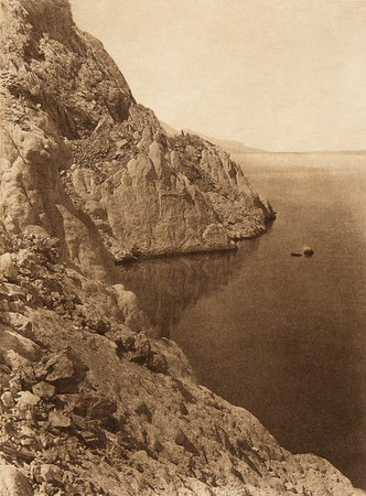 Western shore of Walker Lake  (The North American Indian, v. XV. Norwood, MA, The Plimpton Press, 1926)