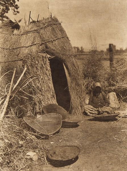 Paviotso house at Walker Lake  (The North American Indian, v. XV. Norwood, MA, The Plimpton Press, 1926)