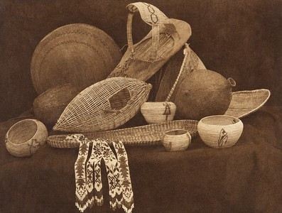 Paviotso basketry  (The North American Indian, v. XV. Norwood, MA, The Plimpton Press, 1926)