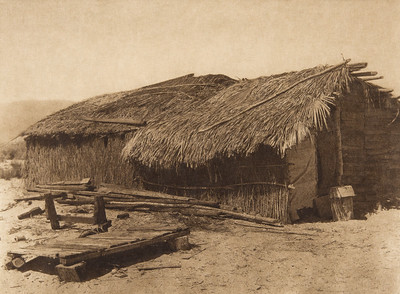 Desert Cahuilla home  (The North American Indian, v. XV. Norwood, MA, The Plimpton Press, 1926)