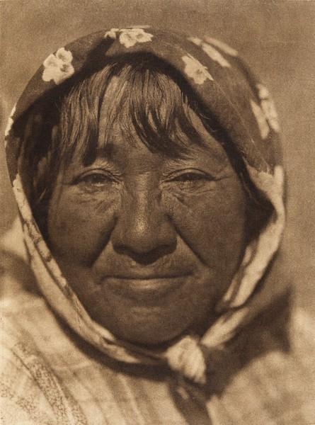 Paviotso female type (The North American Indian, v. XV. Norwood, MA, The Plimpton Press, 1926)