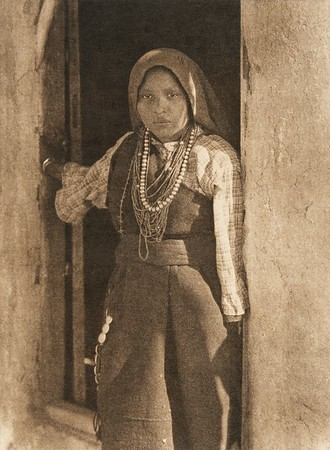 An Isleta girl (The North American Indian, v. XVI. Norwood, MA, The Plimpton Press,  1926)