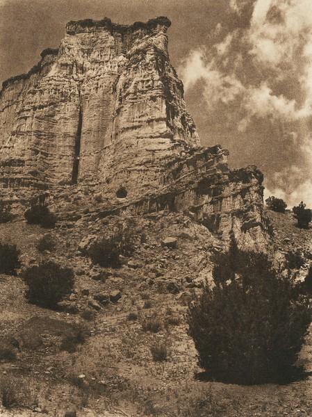 Cave dwelling near Jemez (The North American Indian, v. XVI. Norwood, MA, The Plimpton Press,  1926)
