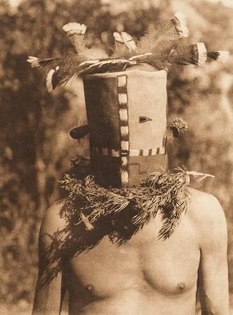 Tyo'oni Shiwanna mask - Cochita (The North American Indian, v. XVI. Norwood, MA, The Plimpton Press,  1926)