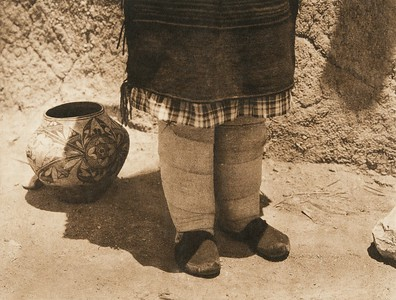 Sia footgear (The North American Indian, v. XVI. Norwood, MA, The Plimpton Press,  1926)