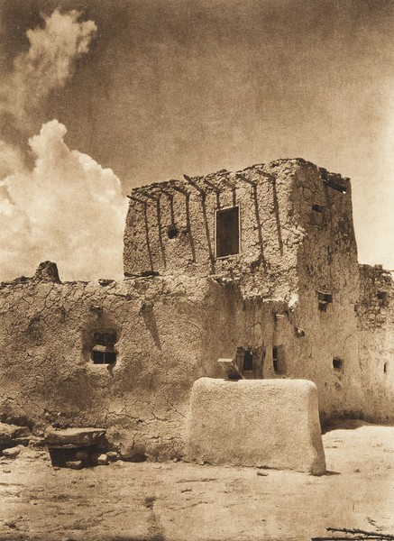 Paguate watchtower (The North American Indian, v. XVI. Norwood, MA, The Plimpton Press,  1926)