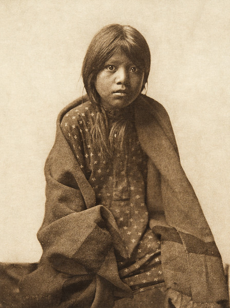 A Taos girl (The North American Indian, v. XVI. Norwood, MA, The Plimpton Press,  1926)