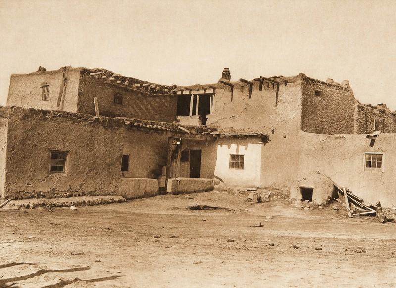 Jemez houses (The North American Indian, v. XVI. Norwood, MA, The Plimpton Press,  1926)
