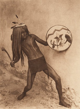 Sia war-dancer (The North American Indian, v. XVI. Norwood, MA, The Plimpton Press,  1926)