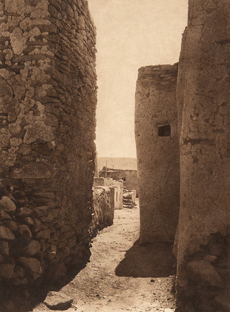 A narrow street - Laguna (The North American Indian, v. XVI. Norwood, MA, The Plimpton Press,  1926)