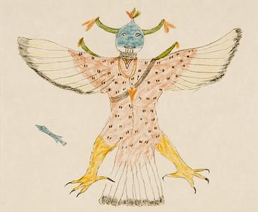 "Native conception of Histiani-Kowasutyi - ""Flint-wing"", the Thunderbird - Acoma (The North American Indian, v. XVI. Norwood, MA, The Plimpton Press,  1926)"
