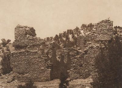 Ruins of the church at Gyusiwa (The North American Indian, v. XVI. Norwood, MA, The Plimpton Press,  1926)
