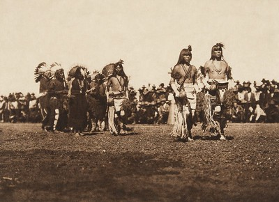 Picuris harvest dance (The North American Indian, v. XVI. Norwood, MA, The Plimpton Press,  1926)