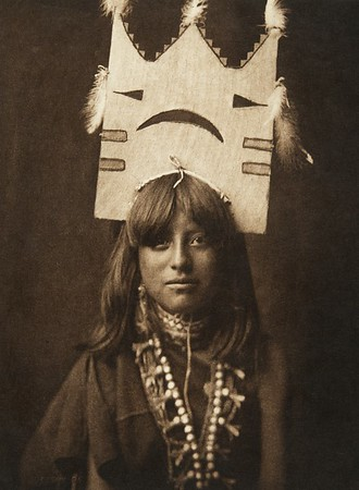 Tablita woman dancer - San Ildefonso (The North American Indian, v. XVII. Norwood, MA, The Plimpton Press,  1926)