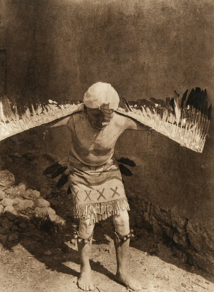 Eagle dancer - San Ildefonso (The North American Indian, v. XVII. Norwood, MA, The Plimpton Press,  1926)