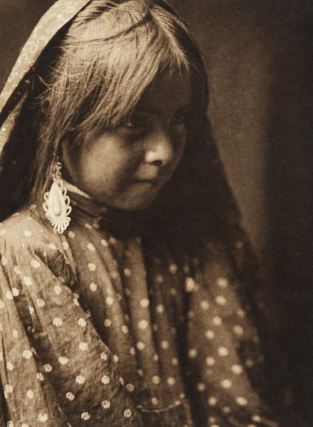 A Nambe girl (The North American Indian, v. XVII. Norwood, MA, The Plimpton Press,  1926)