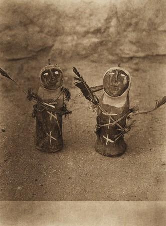 Tewa war-god effigies (The North American Indian, v. XVII. Norwood, MA, The Plimpton Press,  1926)