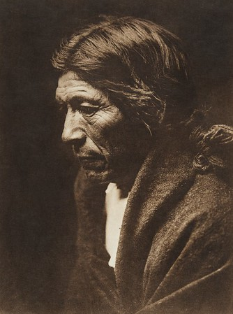 "Pose-aye - ""Dew Moving"", profile - Nambe (The North American Indian, v. XVII. Norwood, MA, The Plimpton Press,  1926)"