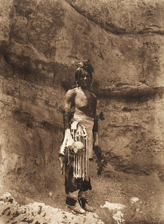 Tewa dance - costume (The North American Indian, v. XVII. Norwood, MA, The Plimpton Press,  1926)