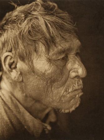 Nasurethur, profile - Chipewyan (The North American Indian, v. XVIII. Norwood, MA, The Plimpton Press,  1928)