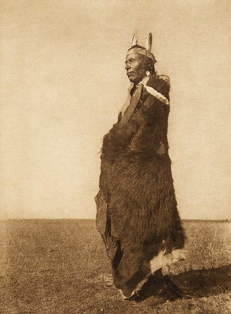 A Blackfoot soldier (The North American Indian, v. XVIII. Norwood, MA, The Plimpton Press,  1928)
