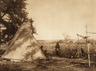 Cree fishing camp (The North American Indian, v. XVIII. Norwood, MA, The Plimpton Press,  1928)