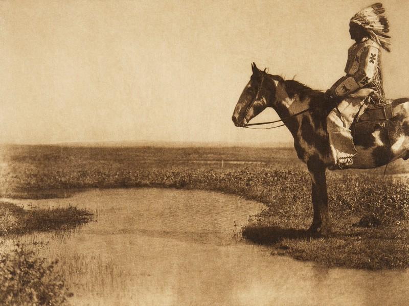 A Blood horseman (The North American Indian, v. XVIII. Norwood, MA, The Plimpton Press,  1928)