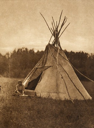 A Chipewyan tipi (The North American Indian, v. XVIII. Norwood, MA, The Plimpton Press,  1928)