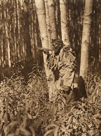 Calling a moose - Cree (The North American Indian, v. XVIII. Norwood, MA, The Plimpton Press,  1928)