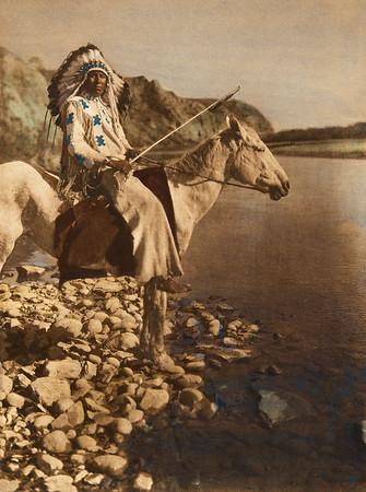 A Blackfoot (The North American Indian, v. XVIII. Norwood, MA, The Plimpton Press,  1928)
