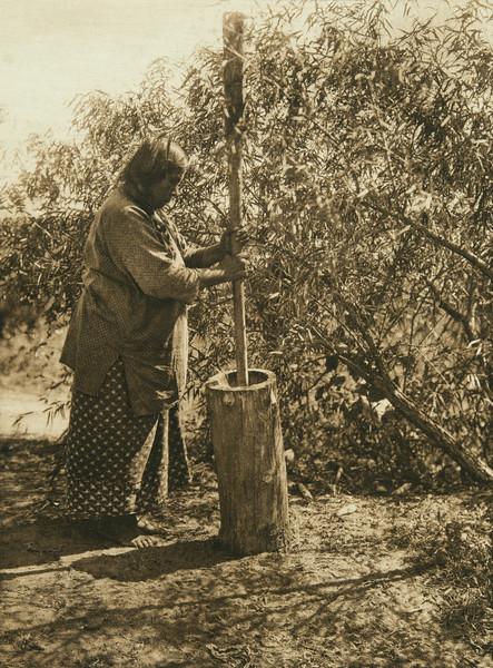 Wichita mortar (The North American Indian, v. XIX. Norwood, MA, The Plimpton Press,  1930)