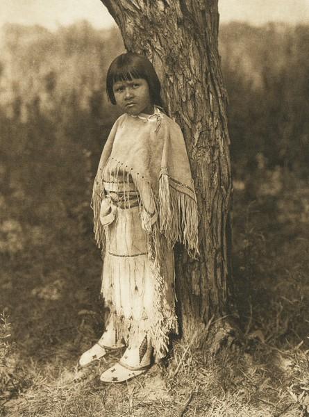 Cheyenne child (The North American Indian, v. XIX. Norwood, MA, The Plimpton Press,  1930)
