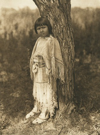 Cheyenne child (The North American Indian, v. XIX. Norwood, MA, The Plimpton Press,  1930)