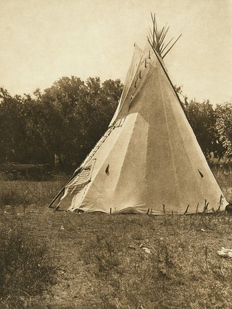 Preparatory lodge, Cheyenne sun dance (The North American Indian, v. XIX. Norwood, MA, The Plimpton Press,  1930)