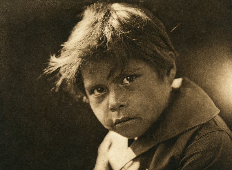 A Comanche child (The North American Indian, v. XIX. Norwood, MA, The Plimpton Press,  1930)