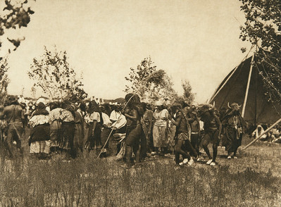 Buffalo society, animal dance - Cheyenne (The North American Indian, v. XIX. Norwood, MA, The Plimpton Press,  1930)