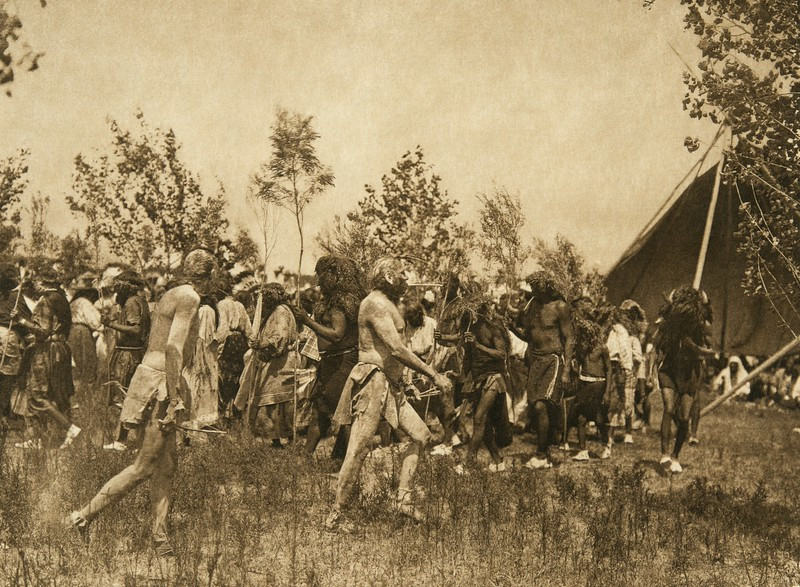 The clowns, animal dance - Cheyenne (The North American Indian, v. XIX. Norwood, MA, The Plimpton Press,  1930)