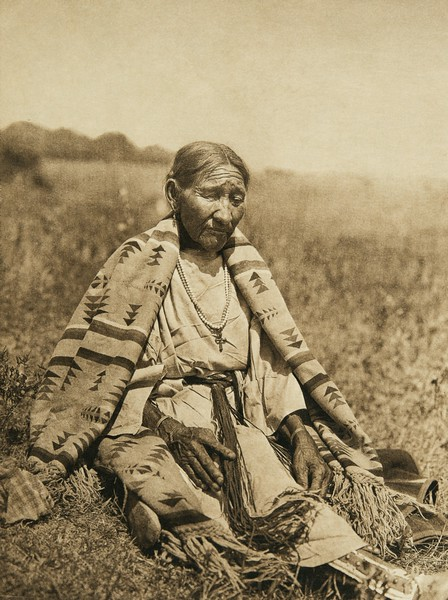 Wife of Howling Wolf - Cheyenne (The North American Indian, v. XIX. Norwood, MA, The Plimpton Press,  1930)