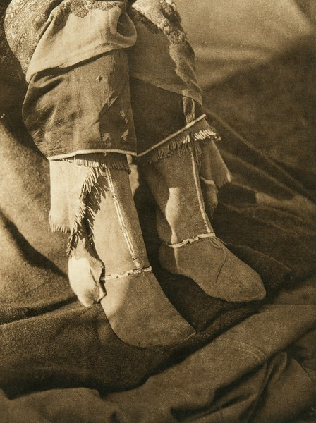 Comanche footwear (The North American Indian, v. XIX. Norwood, MA, The Plimpton Press,  1930)