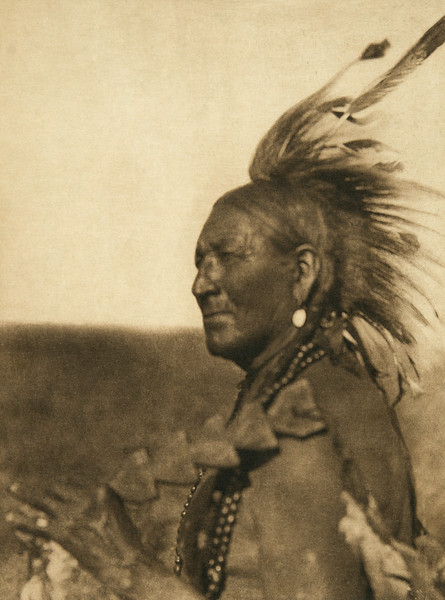 Black Man - Arapaho (The North American Indian, v. XIX. Norwood, MA, The Plimpton Press,  1930)
