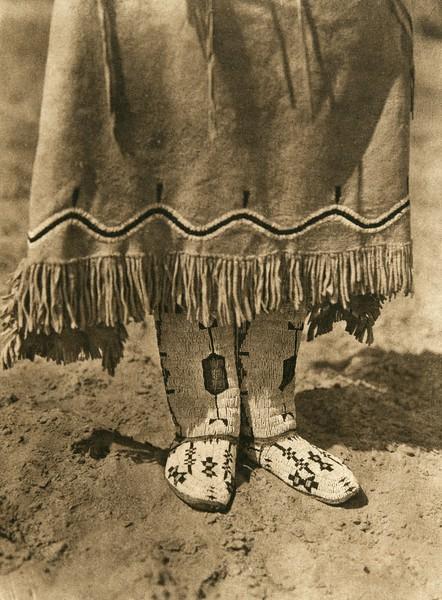 Cheyenne footwear (The North American Indian, v. XIX. Norwood, MA, The Plimpton Press,  1930)