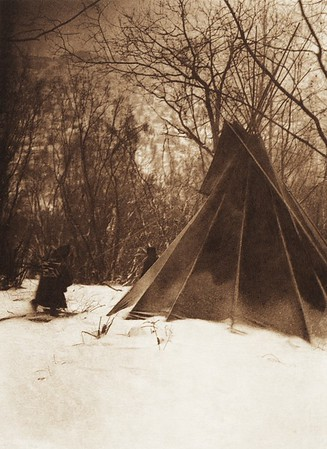 When Winter Comes [Sioux] (Indians of North America, v. III. Cambridge, MA: The University Press, 1908)