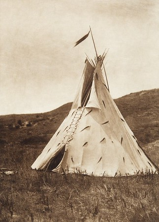 Slow Bull's Tipi [Ogalala] (Indians of North America, v. III. Cambridge, MA: The University Press, 1908)