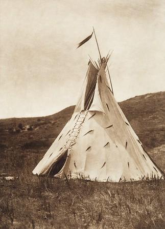 Slow Bull's Tipi [Ogalala] (Indians of North America, v. III. Cambridge, MA: The University Press, 1908)