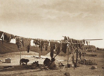 In Camp [Sioux] (Indians of North America, v. III. Cambridge, MA: The University Press, 1908)
