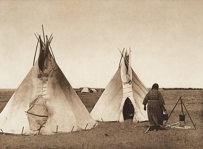 A Prarie Camp [Sioux] (Indians of North America, v. III. Cambridge, MA: The University Press, 1908)
