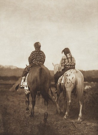 Daughters of a Chief [Sioux] (Indians of North America, v. III. Cambridge, MA: The University Press, 1908)